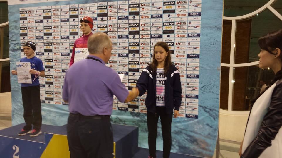 Samira Ahmad primeste distinctia pentru locul 3 la 50 m liber