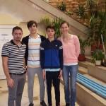 Echipa de Juniori Aquasport 2016: Sabin Avram -antrenor, Rares Calin si Vlad Remzing -sportivi, Camelia Antal - antrenor