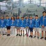 De la stânga la dreapta: Camelia Antal (antrenor), Vlad Remzing (15 ani), Anisia Precob-Crețu (12 ani), Marcus Pirtea (12 ani), Samira Ahmad (13 ani), Emil Dîncăneț (13 ani), Mihai Toma (12 ani), Emilia Orza (12 ani), Andrei Hoțea (13 ani), Vlad Androne (12 ani), Rareș Călin (16 ani) și Sabin avram (antrenor